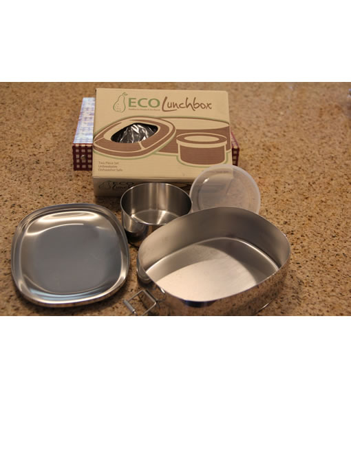 eco lunchbox oval 2 piece food grade stainless steel. Black Bedroom Furniture Sets. Home Design Ideas