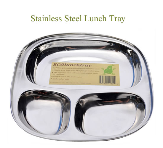 Small Stainless Steel Lunch Tray