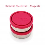 Kids Konserve Stainless Steel Containers – Set of 2 (Magenta)