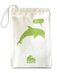 ECOlunchbox Blue Water Bento Lunchbag – Green Dolphin