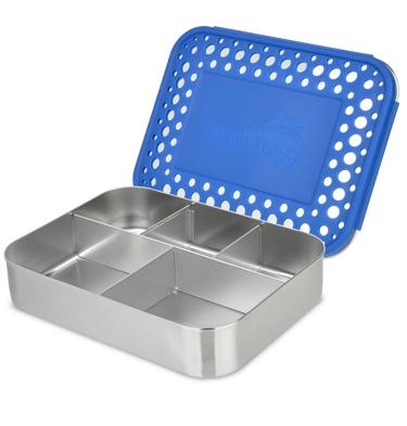lunchbots bento cinco 940ml blue dots. Black Bedroom Furniture Sets. Home Design Ideas