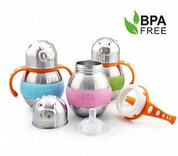 Haakaa Thermal Wide Neck Stainless Steel Baby Bottle 280ml