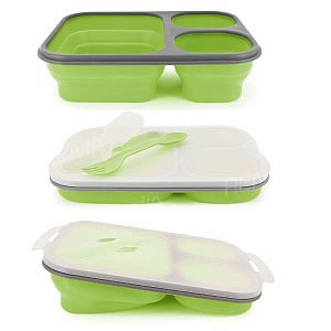 munch bento lunchbox silicone green. Black Bedroom Furniture Sets. Home Design Ideas