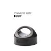 Wide Stainless Loop Cap