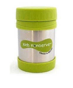 Insulated Food Jar - Kids Konserve 350ml Lime