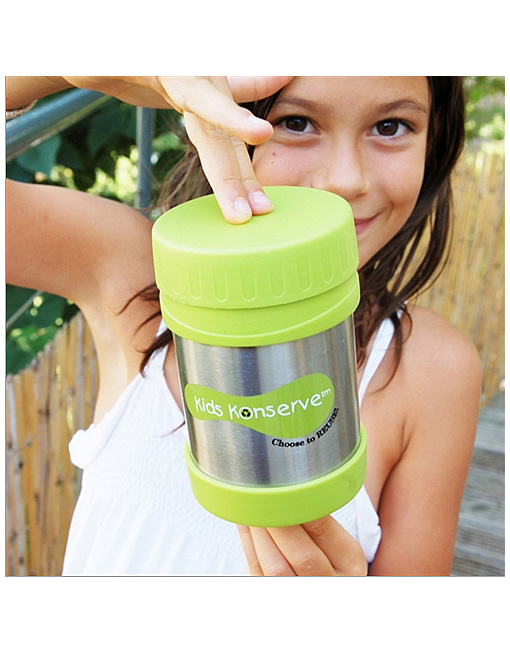 BPA-free stainless steel leak-proof insulated food jar keeps food hot or cold for hours!