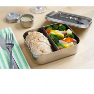 Lunchbots 2-Section Stainless Steel Lunch Box