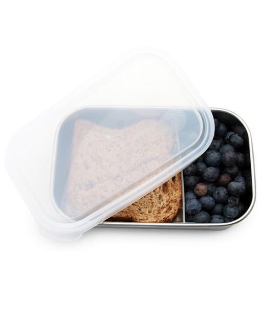 U-Konserve 975ml Rectangle with Removable Divider - Clear