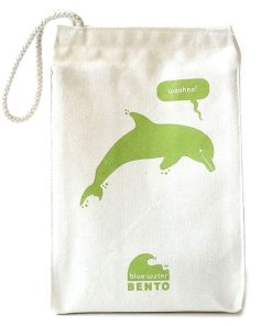 ECOlunchbox Blue Water Bento Lunchbag – Green Dolphin