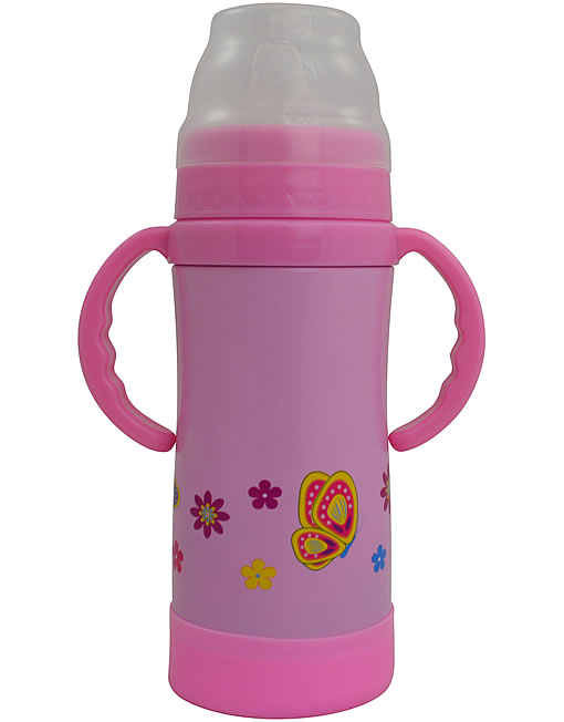 Eco Vessel Triple Insulated Stainless Steel Sippy Cup Pink