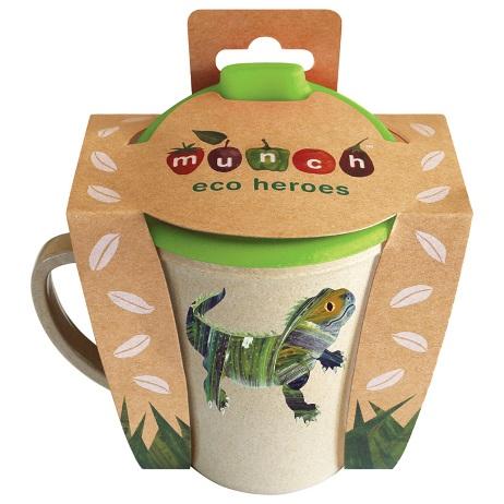 Munch Eco Hero Rice Husk Sippy Cup Lizard