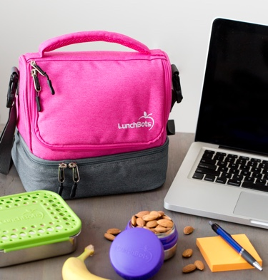 Lunchbots Insulated Lunch Bag Pink