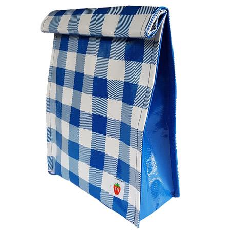 Munch Roll Down Lunchbag Blue Check