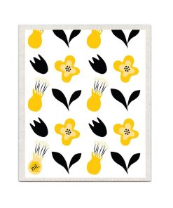 NIL Dishcloth Yellow Flower