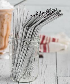 Munch Bent Silver Straw