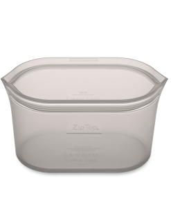 Zip-top Large Grey dish