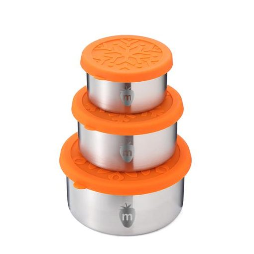 Munch Stainless Steel Round Lunch Containers