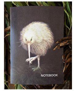 Wild Grey Fox White Kiwi Notebook