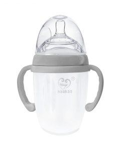 Haakaa Silicone Baby Bottle 250ml Grey