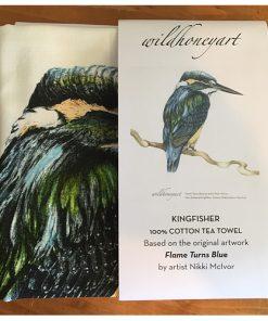 Wild Grey Fox Tea Towel Kingfisher